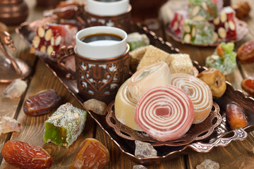 Turkish Delight and various oriental sweets
