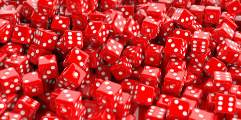 3d rendering dice background