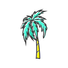 Palm icon in flat style on a white background