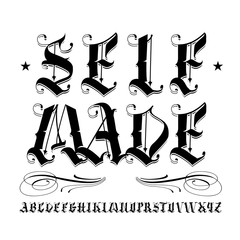 SELF MADE lettering