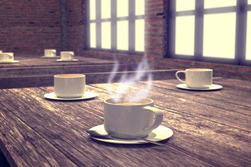 coffee 3D rendering