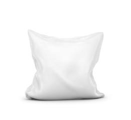 white pillow on white background. 3d illustration