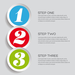One two three - vector progress steps