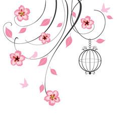 cherry blossom swirls
