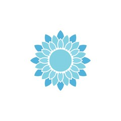 Blue Flower Logo Template