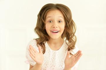 cute little girl posing