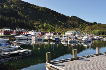Fosnavag Norway / Fosnavag is a small fishing city in the municipality of Heroy in Norway.