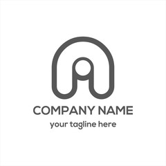 Letter A Typography Logo Vector