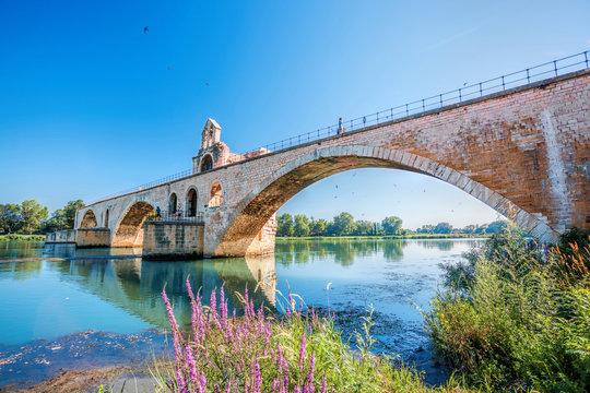 Avignon old bridge in Provence, France