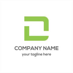 Letter D Typography Logo vector