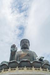 Tian Tan Buddha and bright blue sky