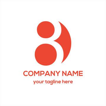 Number 8 Logo Vector