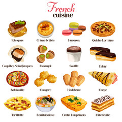 French Cuisine Icons