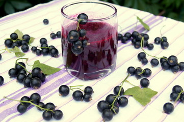 Healthy smoothie from berry of blackcurrant vitamin drink, summer desserts concept