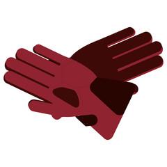 flat design winter gloves icon vector illustration