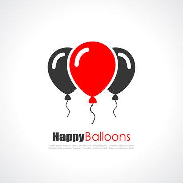 Balloons vector logo