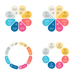 Circular infographics with 8 sections.
