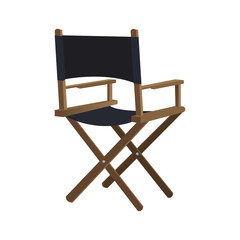 Cinema and Movie concept represented by Directors chair icon. Isolated and flat illustration