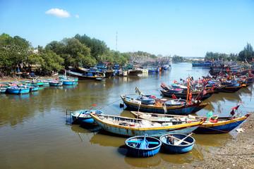 Wooden vietnamese boats