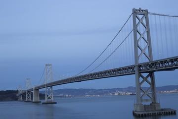 Bay Bridge At Sundown, San Francisco