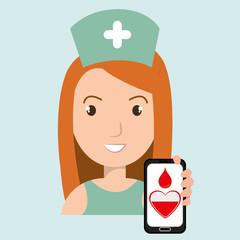 nurse crooss smartphone graphic