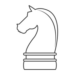 flat design horse chess piece icon vector illustration