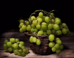 Natura morta con uva da tavola