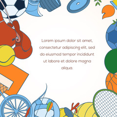 Sport invitation card