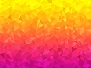Abstract background - Colorful Geometrical shapes, Polygonal vector texture - Pink and yellow colors