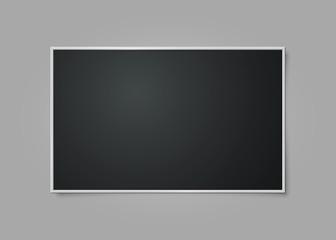 Retro photo frame. Isolated on gray background. Vector illustration, eps 10