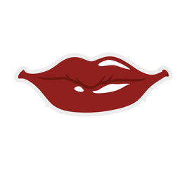 Expression and part of body concept represented by lips icon. Isolated and flat illustration