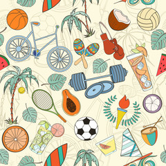 Seamless sport pattern