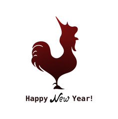 The cute red rooster icon as a symbol of the  2017 year.