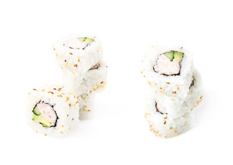 California maki sushi isolated
