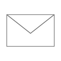 flat design simple envelope icon vector illustration