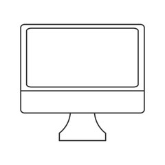 flat design simple computer icon vector illustration
