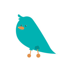 Cute animal concept represented by bird cartoon icon. Isolated and flat illustration