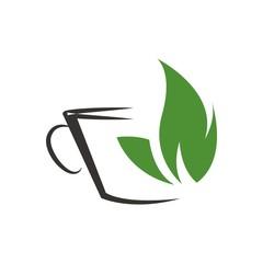 Coffe&tea logo vector