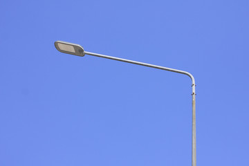 street lighting  on blue sky backgrounds