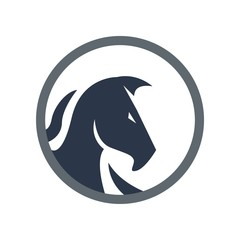 Horse logo animal icon vector