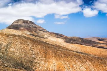 Beautiful volcanic landscape of Fuerteventura. Canary Islands. Spain