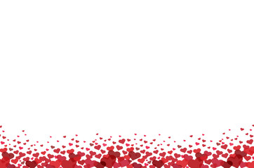 red heart and space background vector
