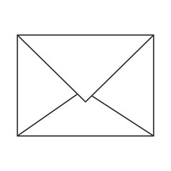 simple flat design closed envelope icon vector illustration