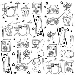 Doodle of music collection vector