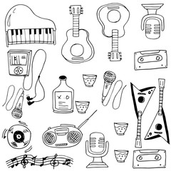 Doodle of object music vector art