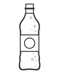 flat design soda bottle icon vector illustration