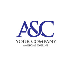 elegant and classy AC letter , Letter A&C logo vector