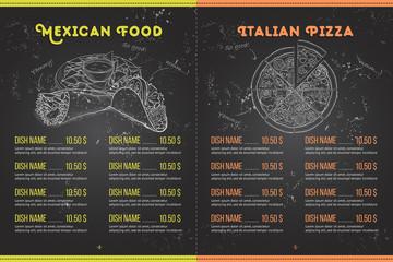 Scetch horisontal menu design