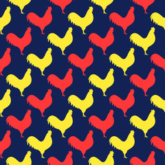 Pattern with cock