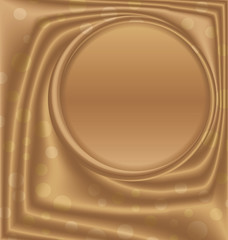 gold metal picture frame at the top of the circle